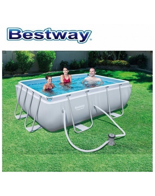 "Bestway Power Steel™ 9'3"" x 6'5"" x 33""/2.82m x 1.96m x 84cm Rectangular Pool Set"